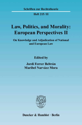 Cover: Law, Politics, and Morality: European Perspectives II