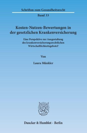 Cover: Kosten-Nutzen-Bewertungen in der gesetzlichen Krankenversicherung