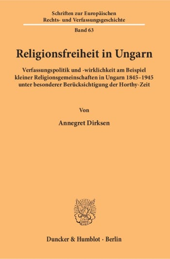 Cover: Religionsfreiheit in Ungarn