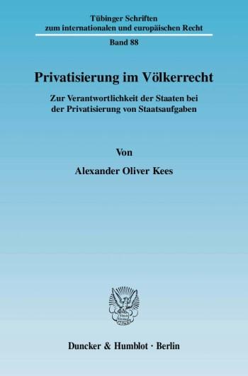 Cover: Privatisierung im Völkerrecht