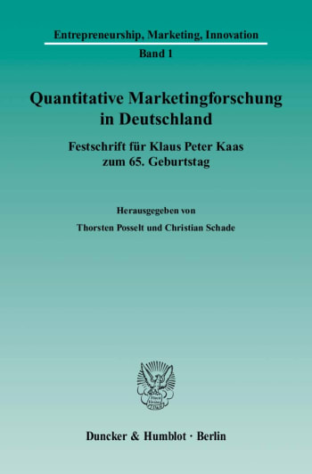 Cover: Quantitative Marketingforschung in Deutschland