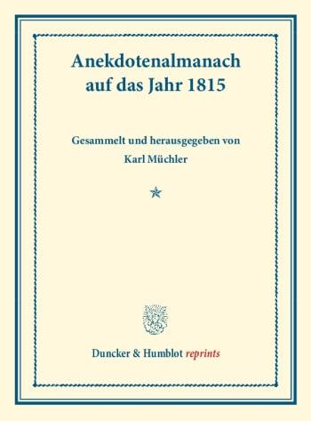 Cover: Anekdotenalmanach auf das Jahr 1815