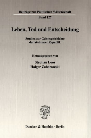 Cover: Leben, Tod und Entscheidung