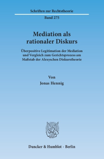 Cover: Mediation als rationaler Diskurs
