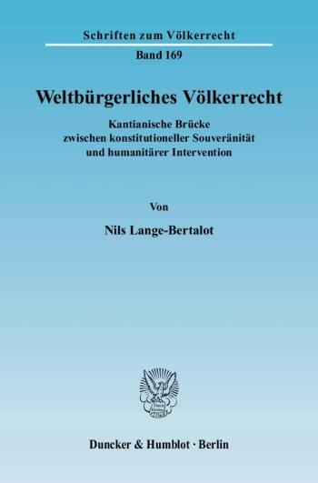 Cover: Weltbürgerliches Völkerrecht