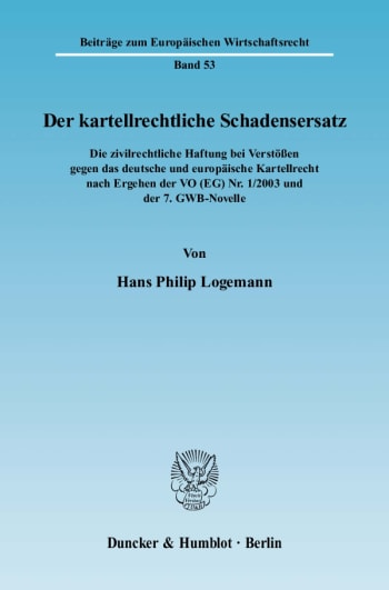 Cover: Der kartellrechtliche Schadensersatz