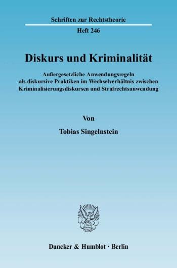 Cover: Diskurs und Kriminalität