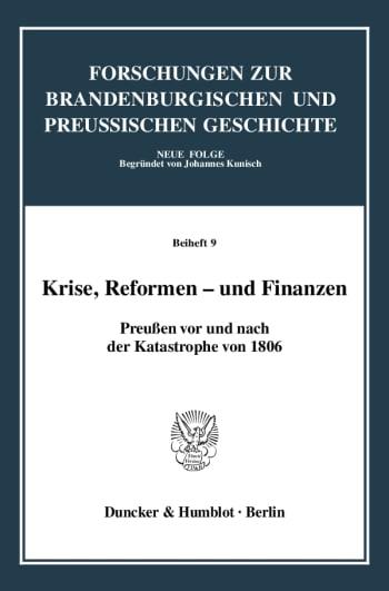 Cover: Krise, Reformen - und Finanzen