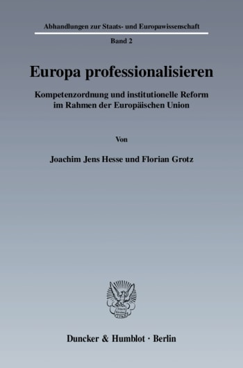 Cover: Europa professionalisieren