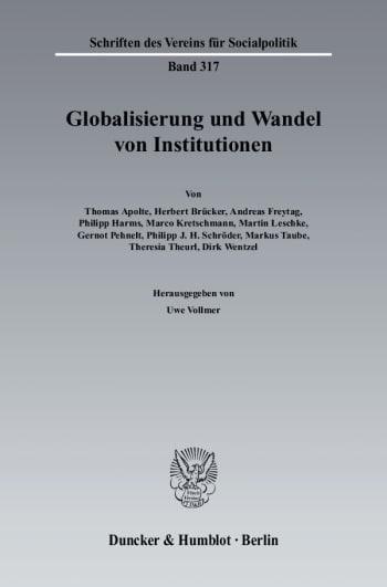 Cover: Globalisierung und Wandel von Institutionen