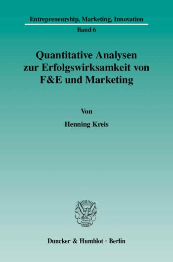 Cover: Quantitative Analysen zur Erfolgswirksamkeit von F&E und Marketing
