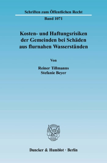 Cover: Kosten- und Haftungsrisiken der Gemeinden bei Schäden aus flurnahen Wasserständen