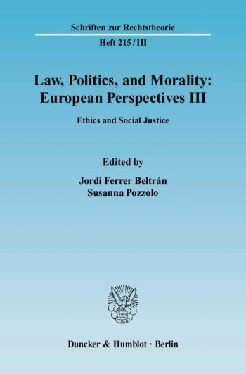 Cover: Law, Politics, and Morality: European Perspectives III