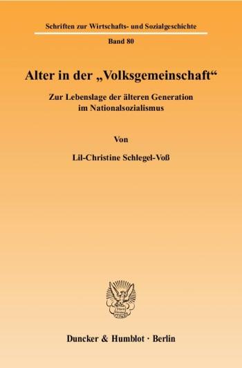 """Cover: Alter in der """"Volksgemeinschaft"""""""