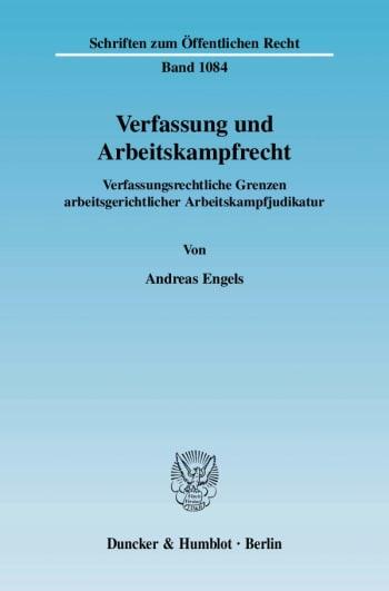 Cover: Verfassung und Arbeitskampfrecht