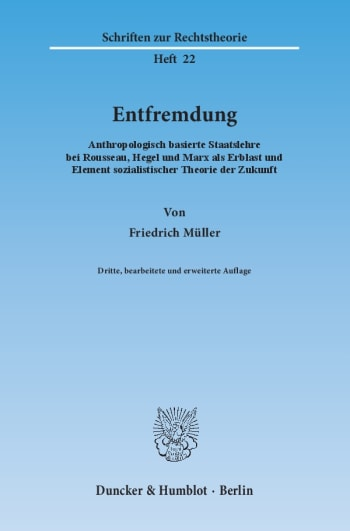 Cover: Entfremdung
