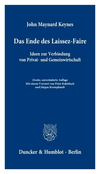 Cover: Das Ende des Laissez-Faire