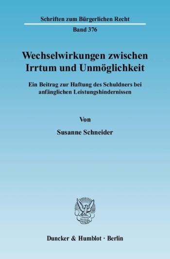 Cover: Wechselwirkungen zwischen Irrtum und Unmöglichkeit