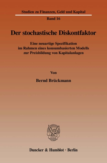 Cover: Der stochastische Diskontfaktor