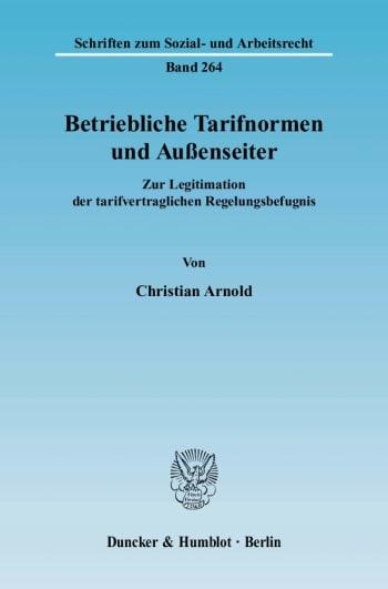 Cover: Betriebliche Tarifnormen und Außenseiter