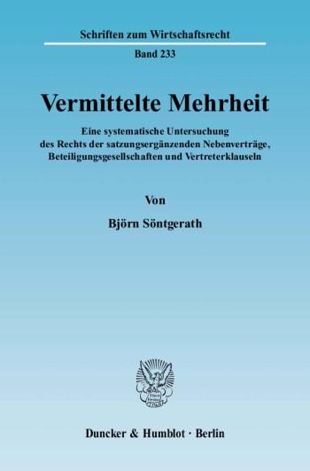 Cover: Vermittelte Mehrheit