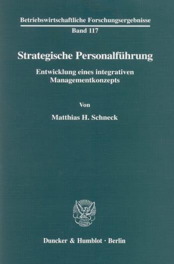 Cover: Strategische Personalführung