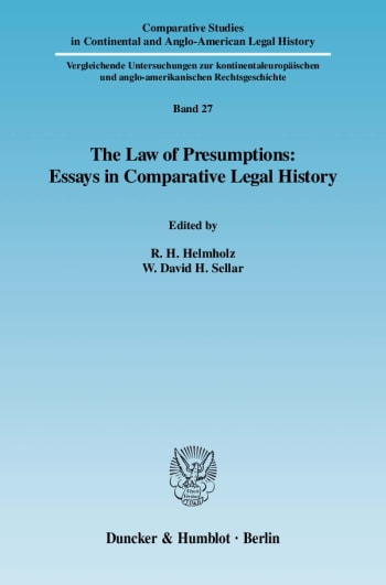 Cover: The Law of Presumptions: Essays in Comparative Legal History