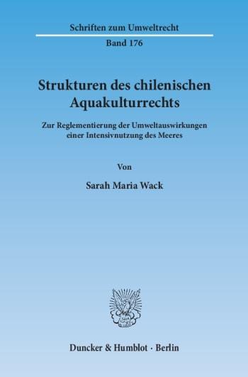 Cover: Strukturen des chilenischen Aquakulturrechts