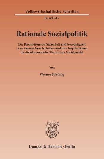 Cover: Rationale Sozialpolitik
