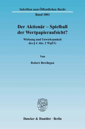 Cover: Der Aktionär – Spielball der Wertpapieraufsicht?