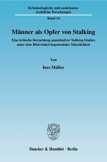 Cover: Männer als Opfer von Stalking