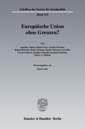 Cover: Europäische Union ohne Grenzen?