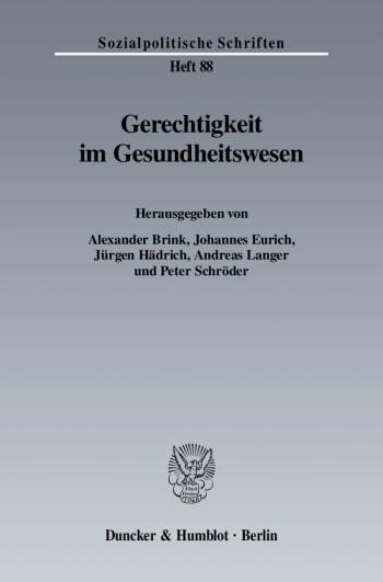 Cover: Gerechtigkeit im Gesundheitswesen