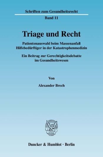 Cover: Triage und Recht