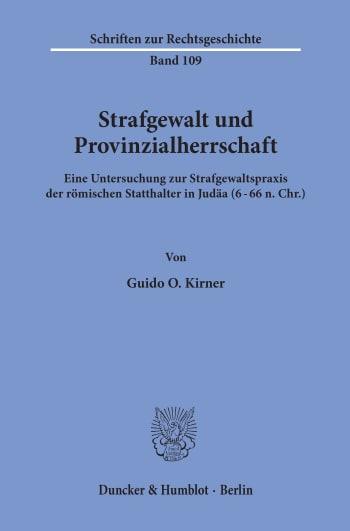 Cover: Strafgewalt und Provinzialherrschaft
