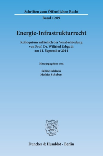 Cover: Energie-Infrastrukturrecht
