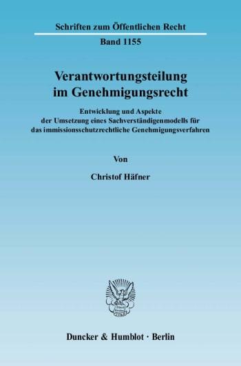 Cover: Verantwortungsteilung im Genehmigungsrecht
