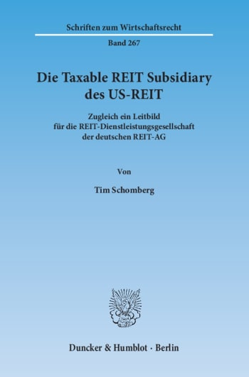 Cover: Die Taxable REIT Subsidiary des US-REIT