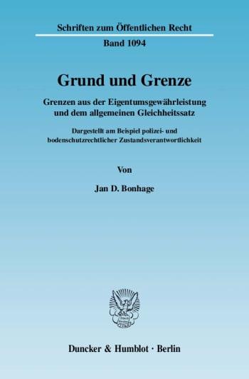 Cover: Grund und Grenze