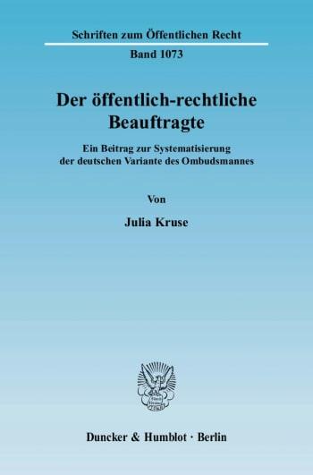 Cover: Der öffentlich-rechtliche Beauftragte
