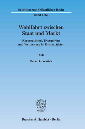 Cover: Wohlfahrt zwischen Staat und Markt