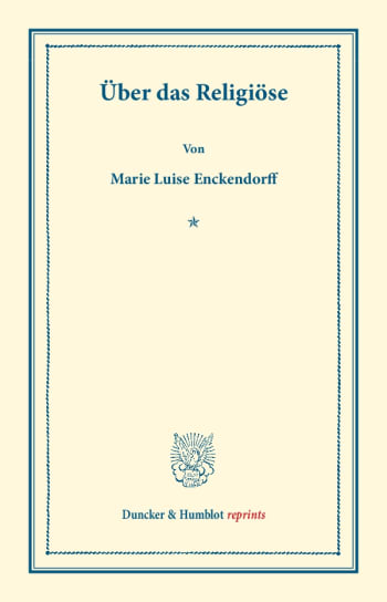 Cover: Über das Religiöse