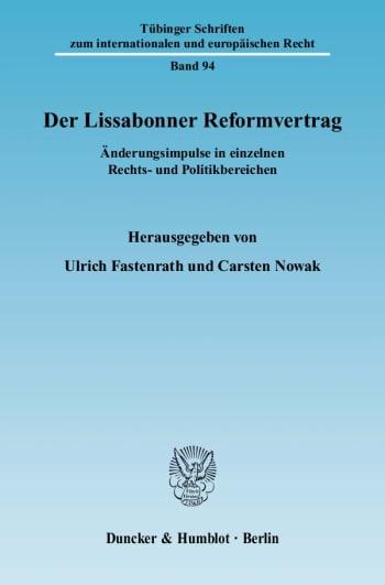 Cover: Der Lissabonner Reformvertrag