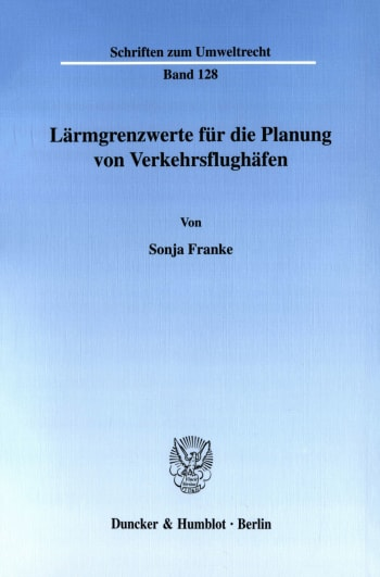Cover: Lärmgrenzwerte für die Planung von Verkehrsflughäfen
