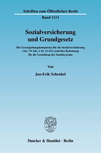 Cover: Sozialversicherung und Grundgesetz