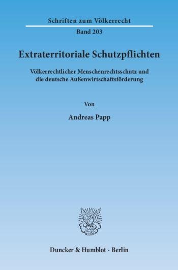 Cover: Extraterritoriale Schutzpflichten