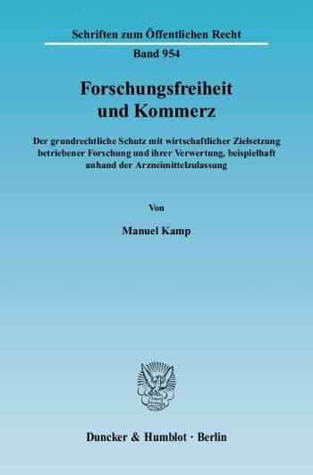 Cover: Forschungsfreiheit und Kommerz