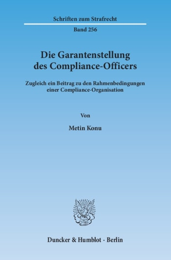 Cover: Die Garantenstellung des Compliance-Officers