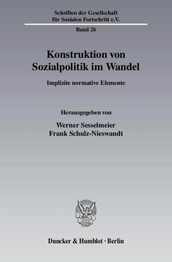 Cover: Konstruktion von Sozialpolitik im Wandel