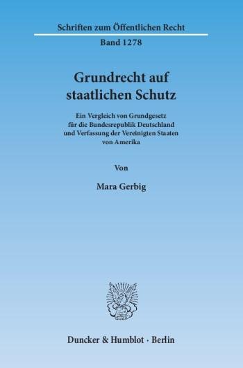 Cover: Grundrecht auf staatlichen Schutz